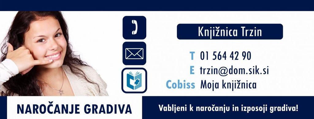 Informacije o odprtju Knjižnice Domžale in njenih enot
